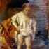 Palimpsest XI  nach der Badenden von Rembrandt  2018,  oil on wood,  70 x 100 cm