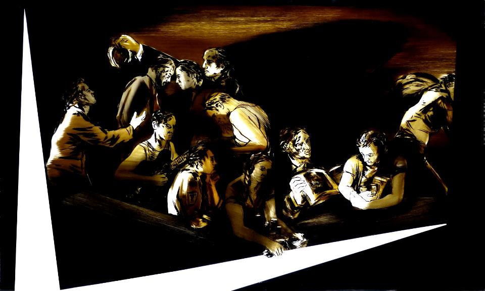 DER-TAUSCH-2011-Teer-hinter-Glas-125-x-200cm