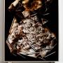 DAZWISCHEN 2014 Teer hinter Glas 200 x 165 cm