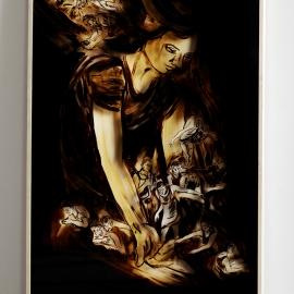 QUELLE-2015-Teer-hinter-Glas-200x125cm